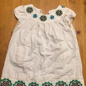 Baby gap toddler 3t white dress floral girl